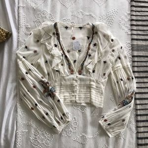 FP Embroidered Blouse - Vintage vibes!